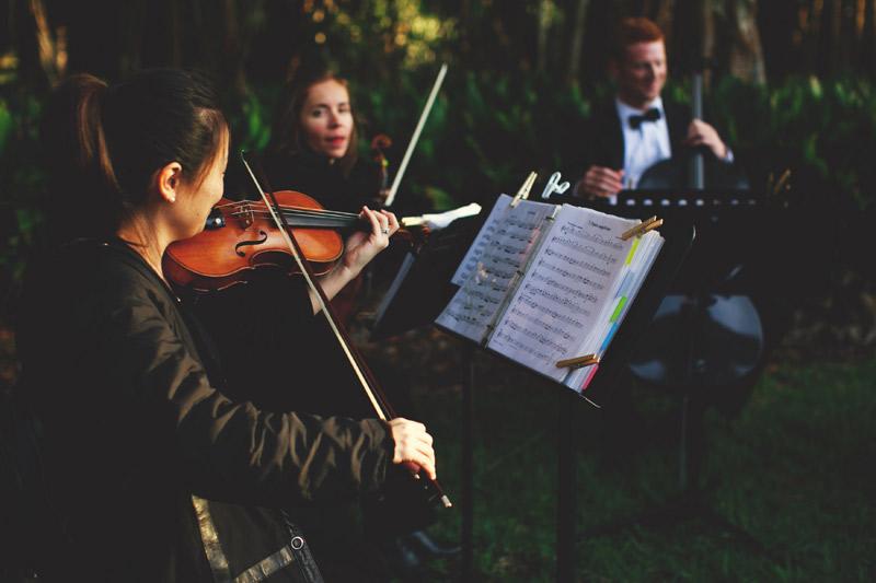 ringling museum wedding: string quartet