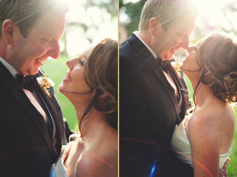 ringling museum wedding: smiling bride and groom