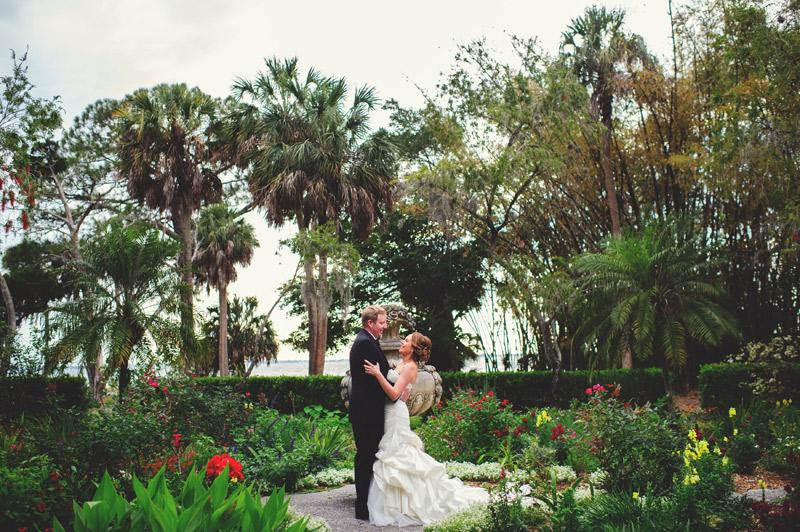 ringling museum wedding: portraits in the garden