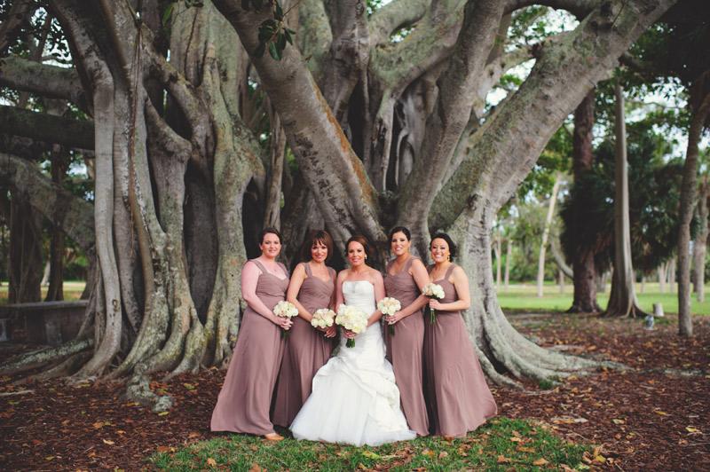 ringling museum wedding: bridesmaids