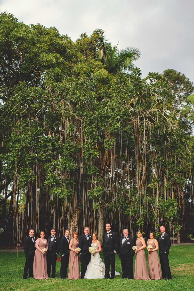 ringling museum wedding: bridal party