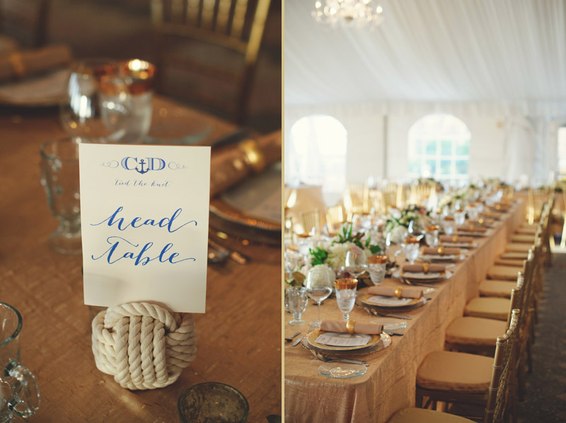 ringling museum wedding: table number with rope