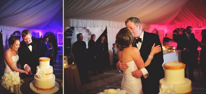 ringling museum wedding: cake cutting