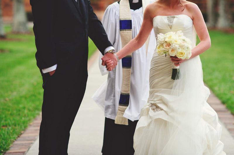 ringling museum wedding: holding hands