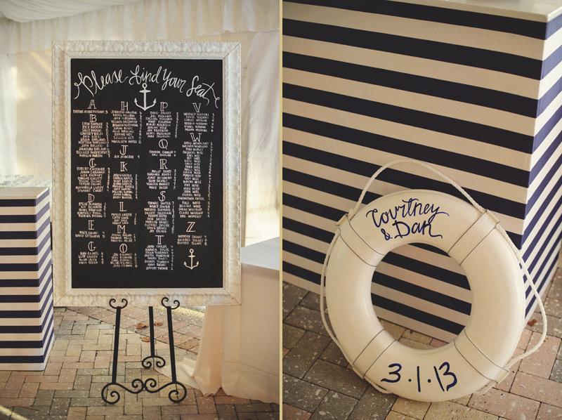 ringling museum wedding: navy and white nautical theme