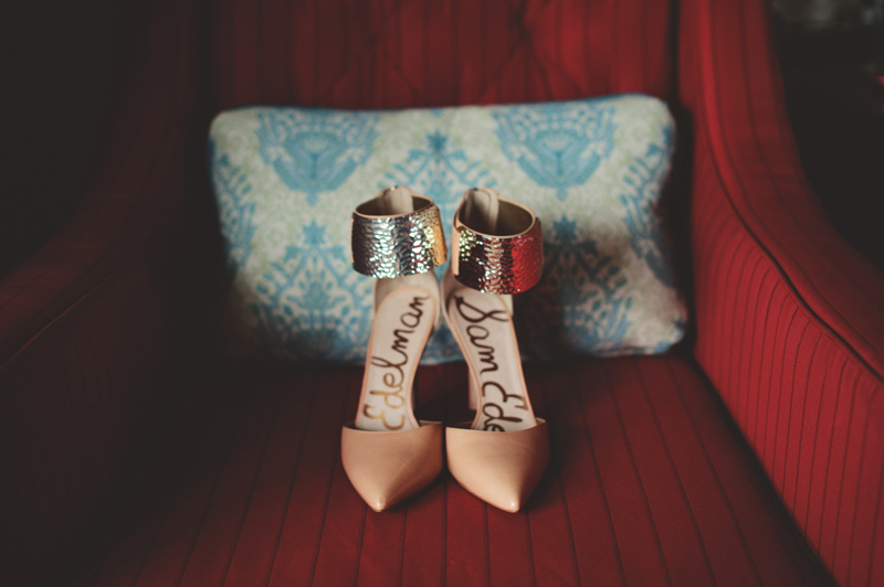 st pete elopement:  sam edelman wedding shoes