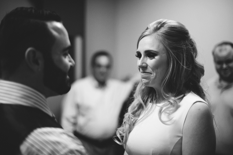 st pete elopement:  bride crying