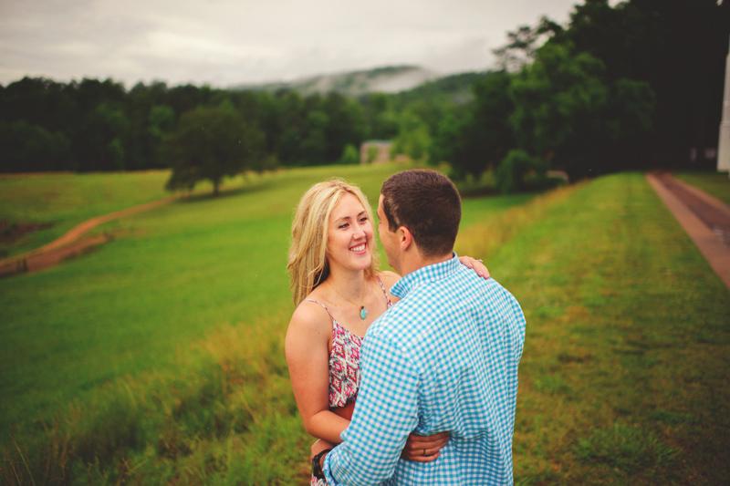 barnsley garden resort wedding: happy bride and groom