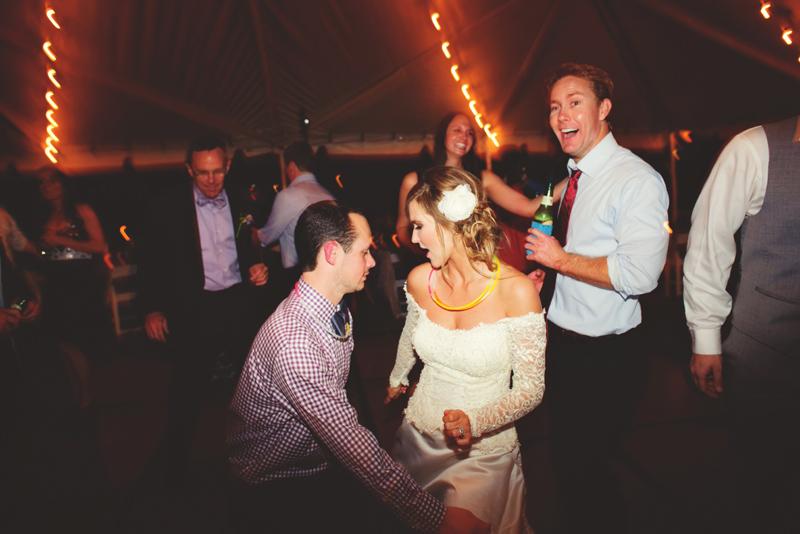 backyard tampa wedding: fun dancing