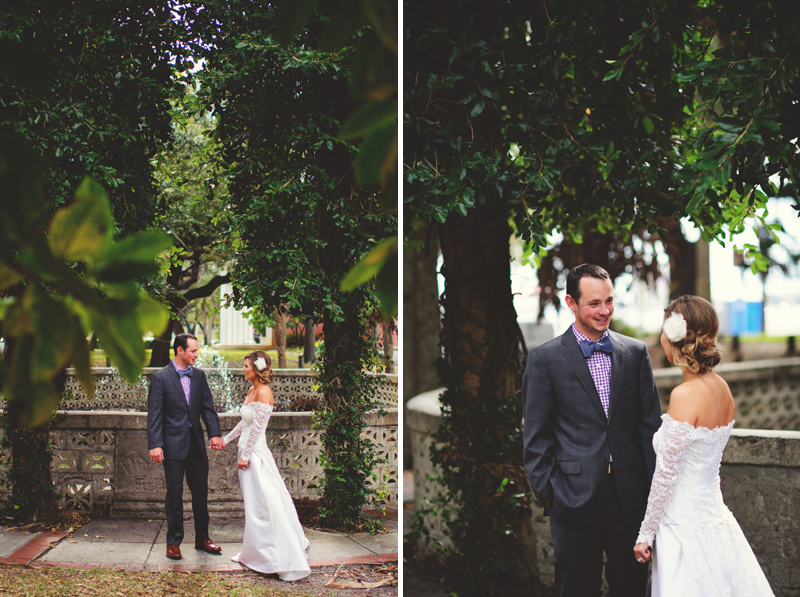 backyard wedding tampa: happy groom