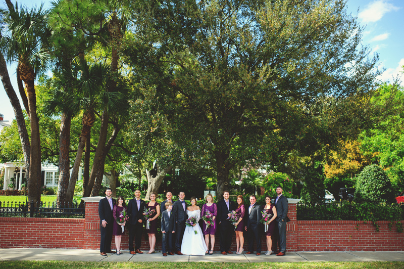 backyard wedding tampa: wedding party