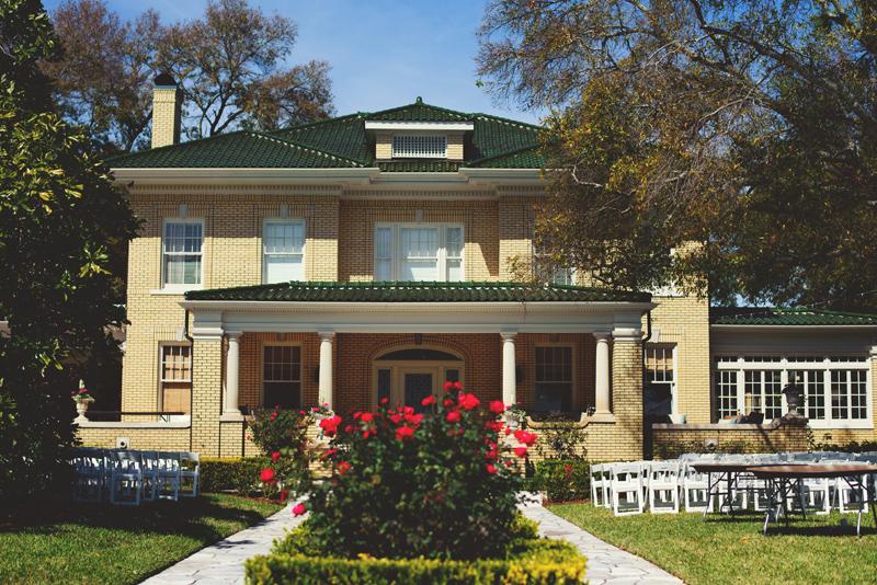backyard wedding tampa: house