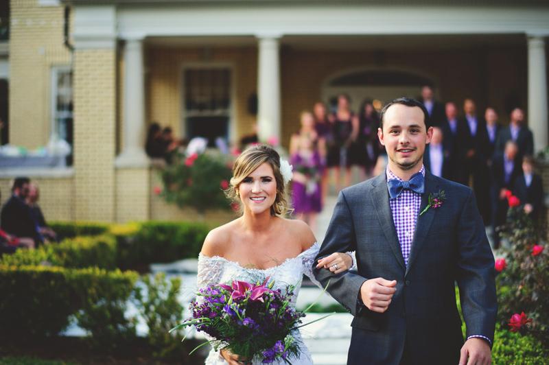 backyard wedding tampa: recessional