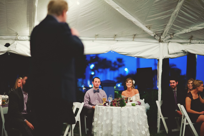 backyard tampa wedding: father of the bride toast