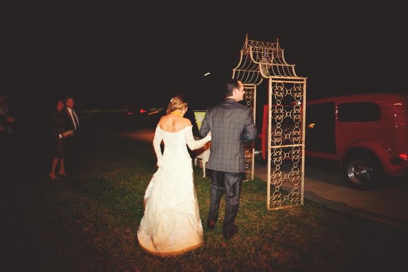 backyard tampa wedding: send off
