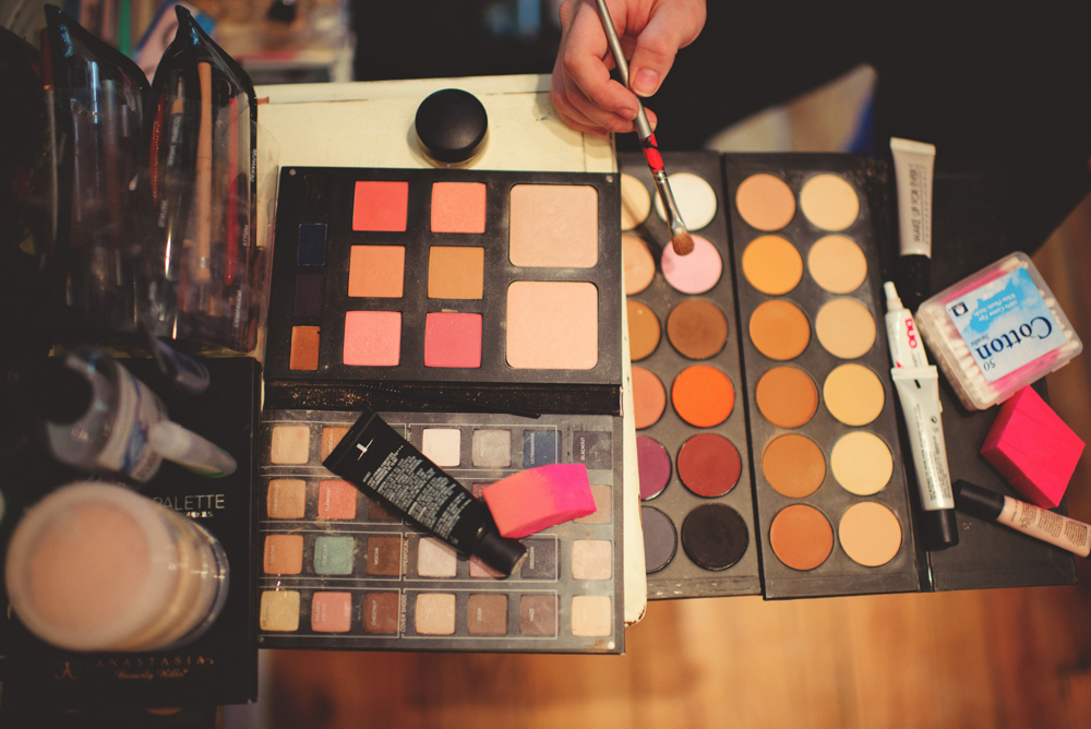 mint springs farm wedding: makeup