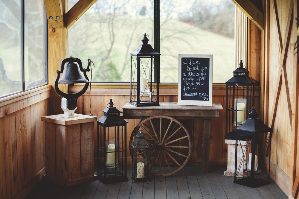 mint springs farm wedding: ceremony details