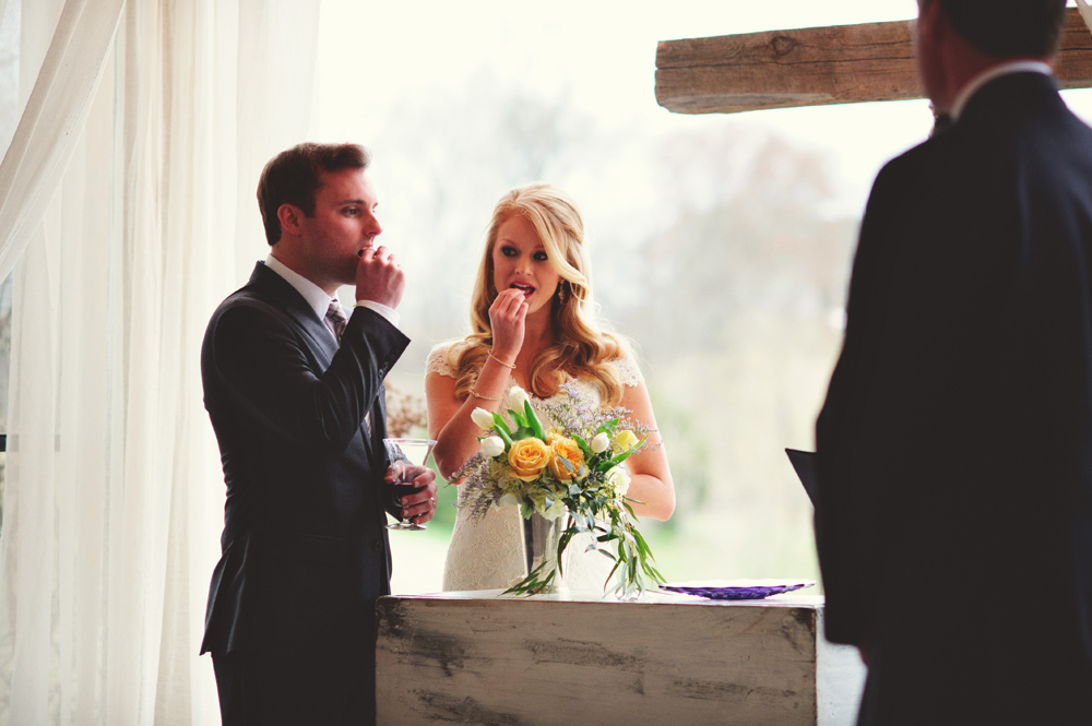 mint springs farm wedding: communion