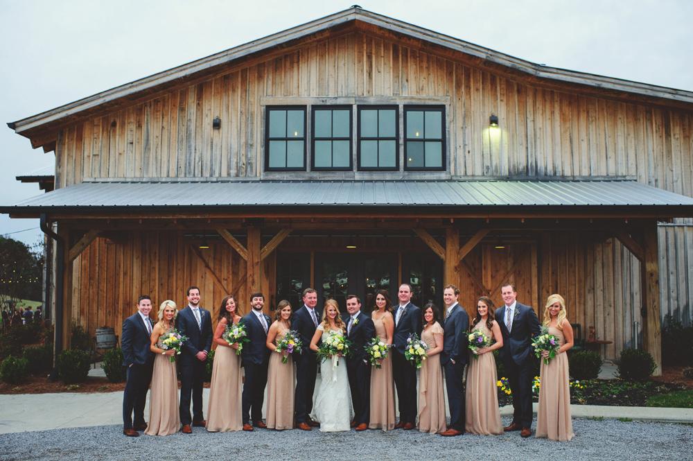mint springs farm wedding: bridal party