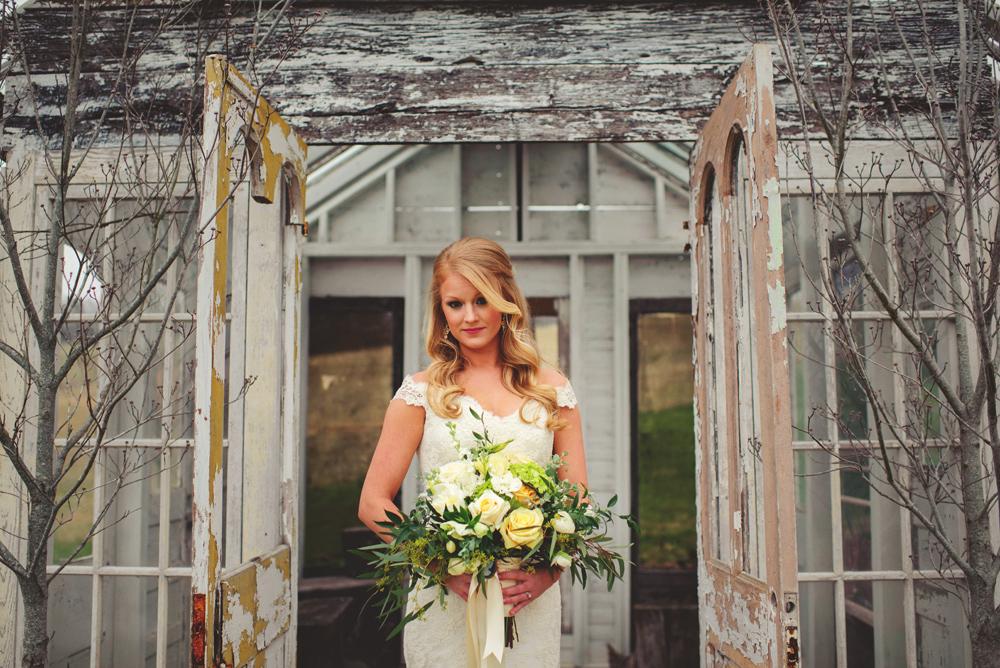 mint springs farm wedding: bride portraits
