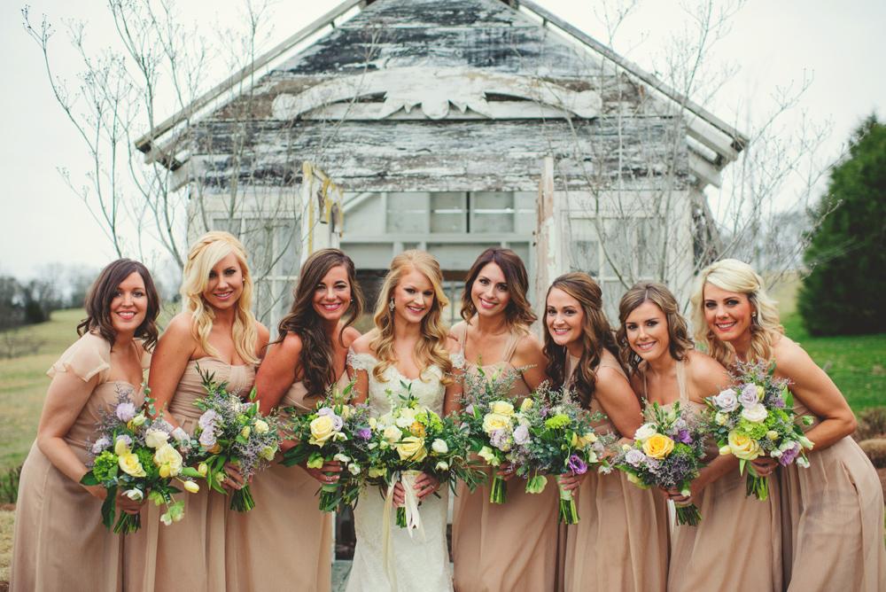 mint springs farm wedding: bridesmaids