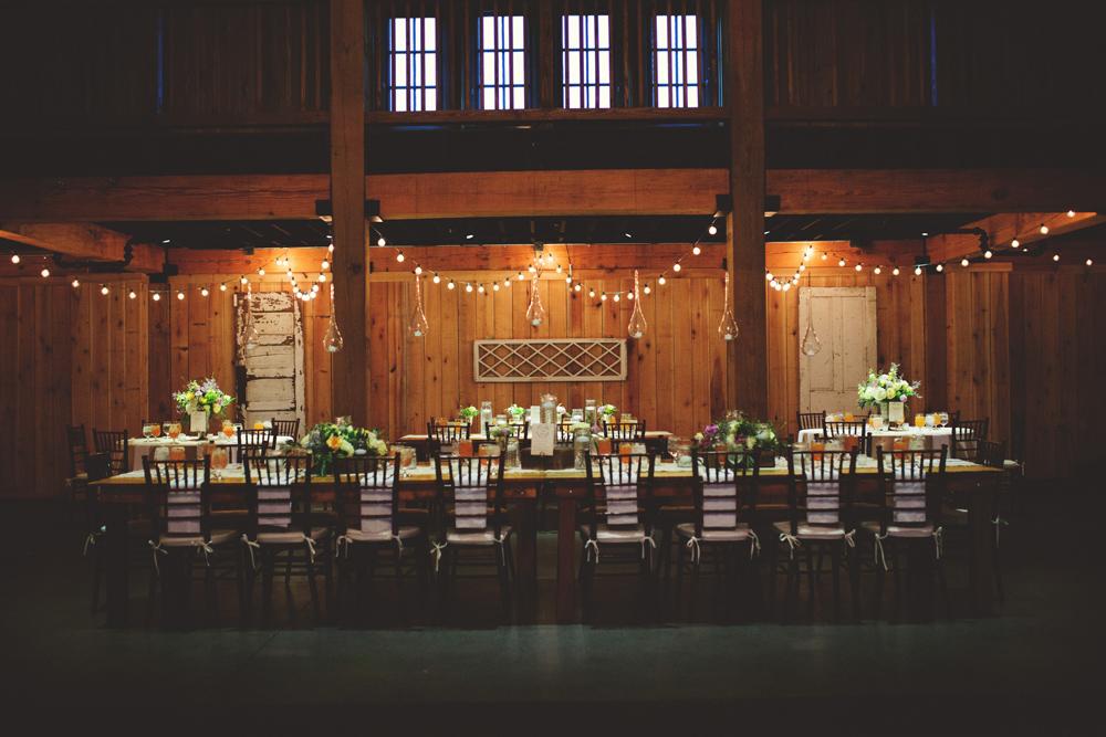 mint springs farm wedding: long table settings