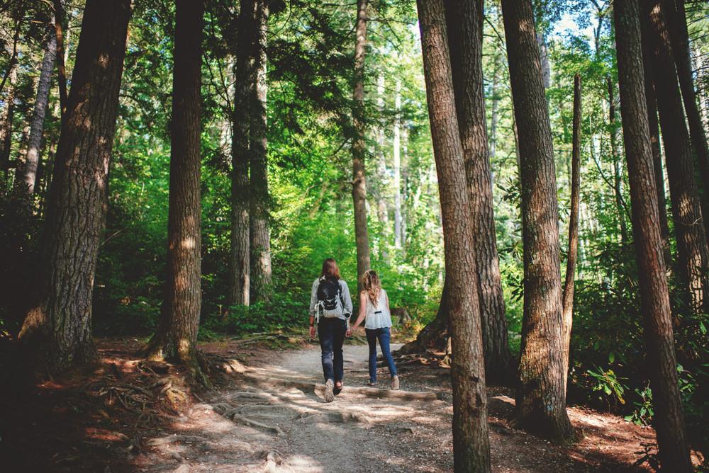 asheville hiking engagement