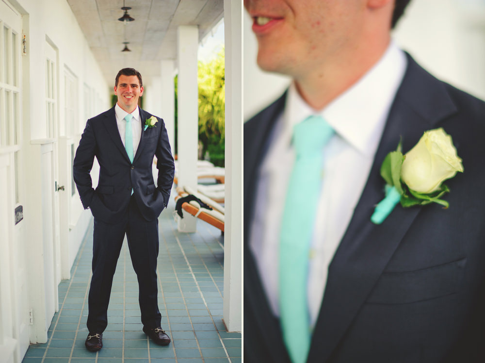 ocean view club wedding : groom and boutonniere
