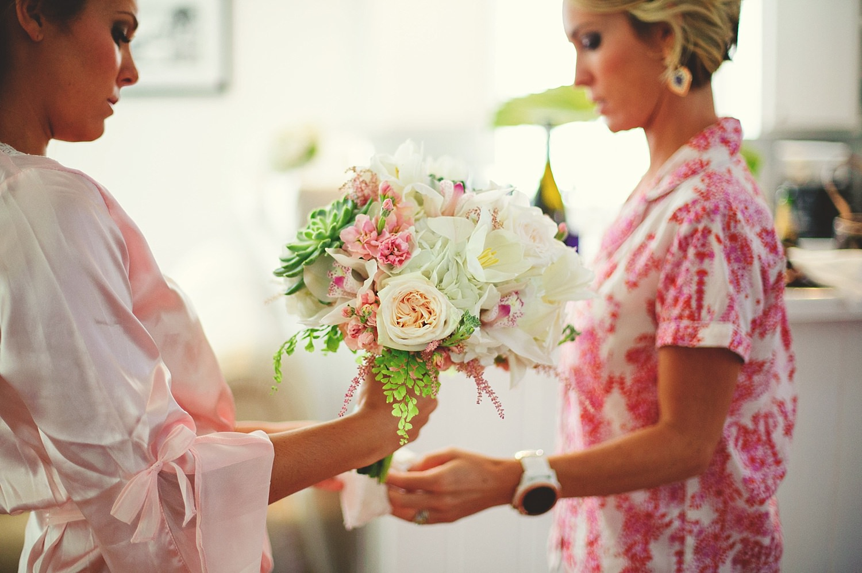 pierre's restaurant wedding: bride and sister