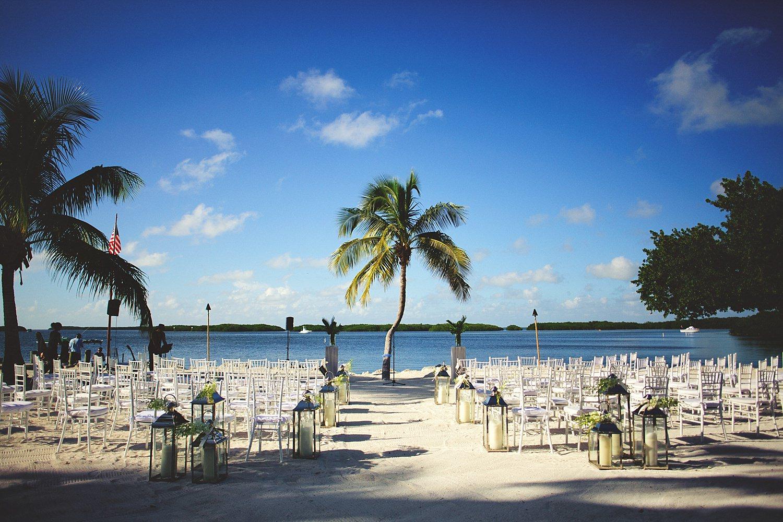 pierre's restaurant wedding: ceremony set up