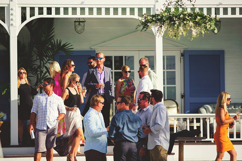 pierre's restaurant wedding: guests gathering around