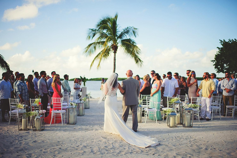 pierre's restaurant wedding: bride and her dad walking down aisle