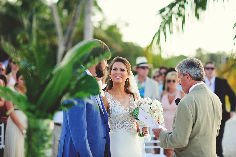 pierre's restaurant wedding: bride smiling