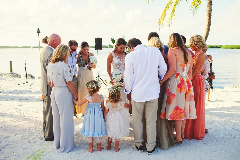 pierre's restaurant wedding: family praying