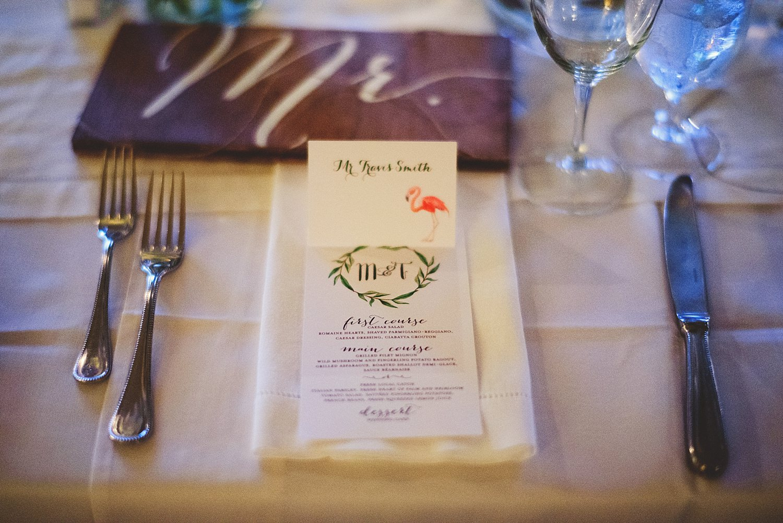 pierre's restaurant wedding: table setting