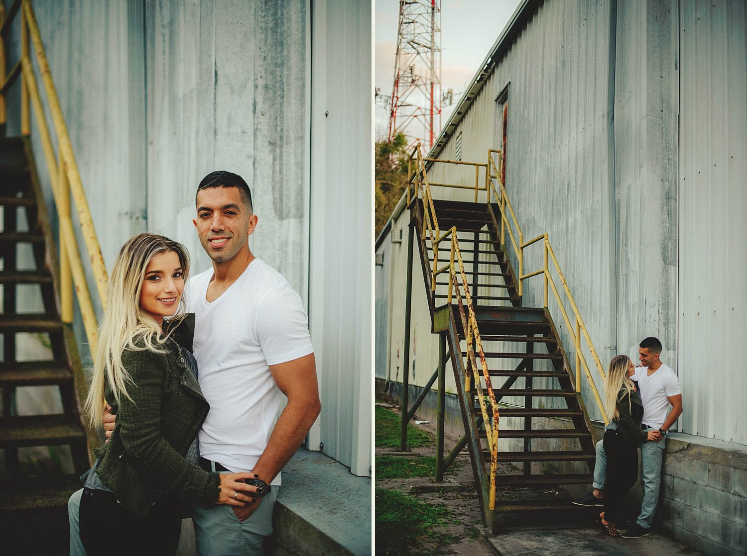 winter garden engagement photos: industrial