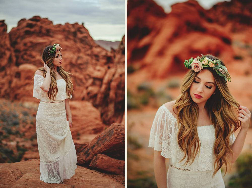 boho bride valley of fire
