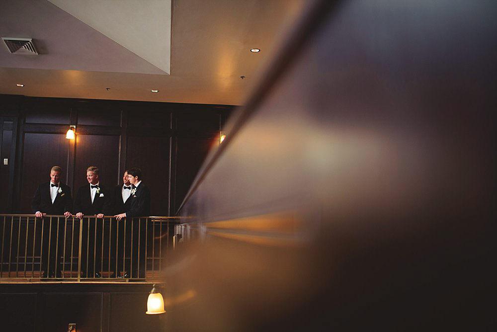 oxford exchange wedding : groom and groomsmen
