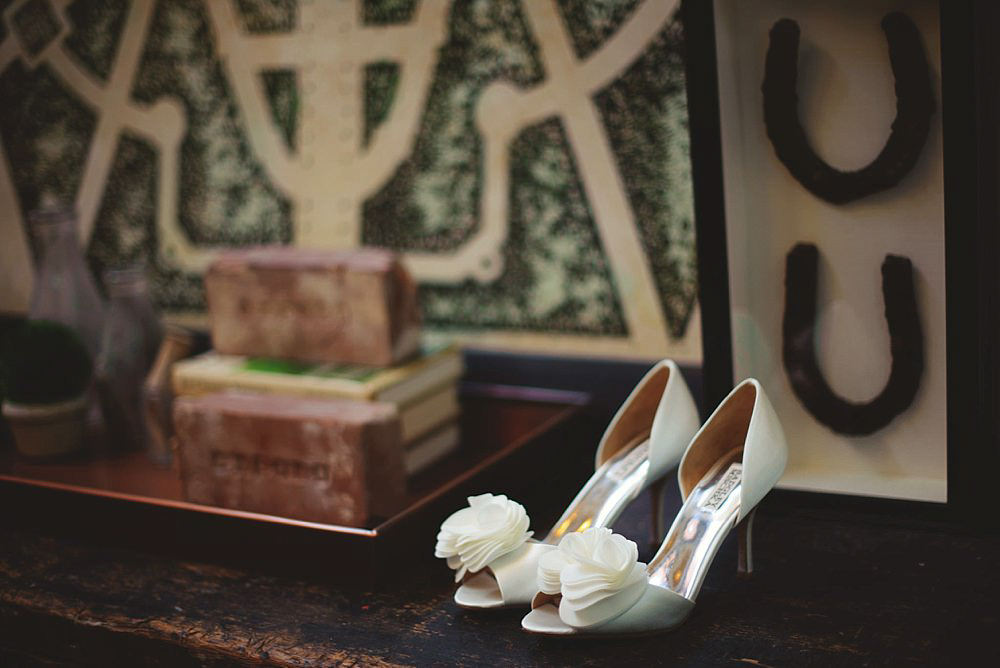 oxford exchange wedding : bride's shoes
