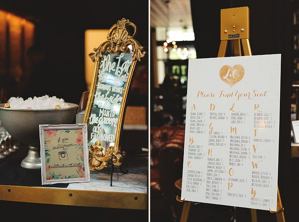 oxford exchange wedding : seating chart