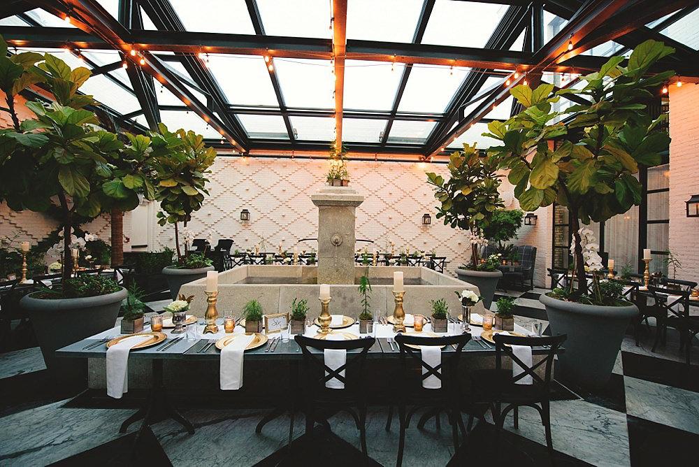 oxford exchange wedding : reception