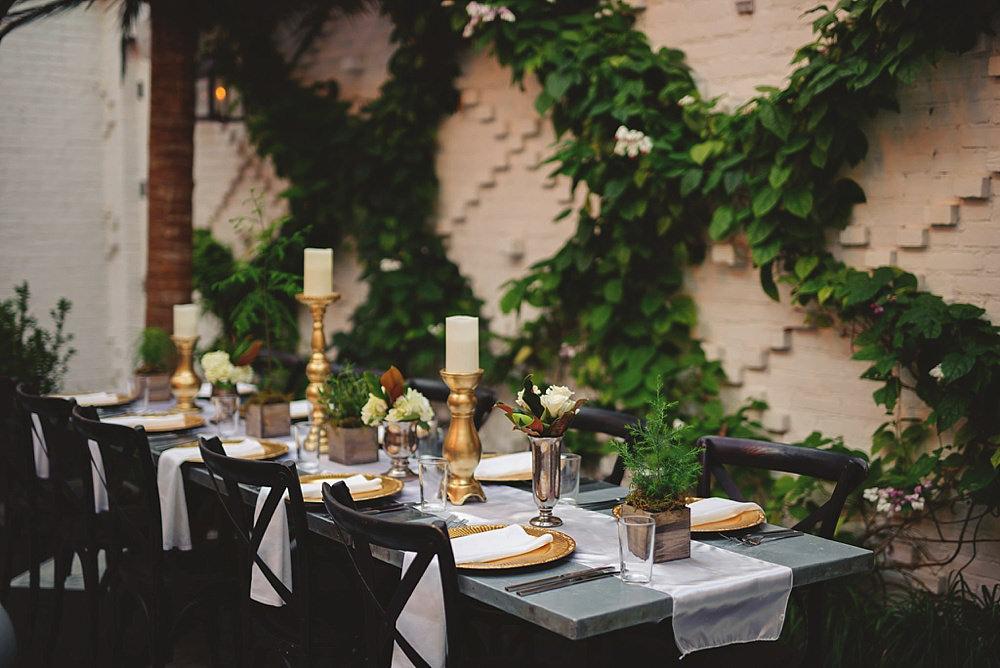oxford exchange wedding : table setup