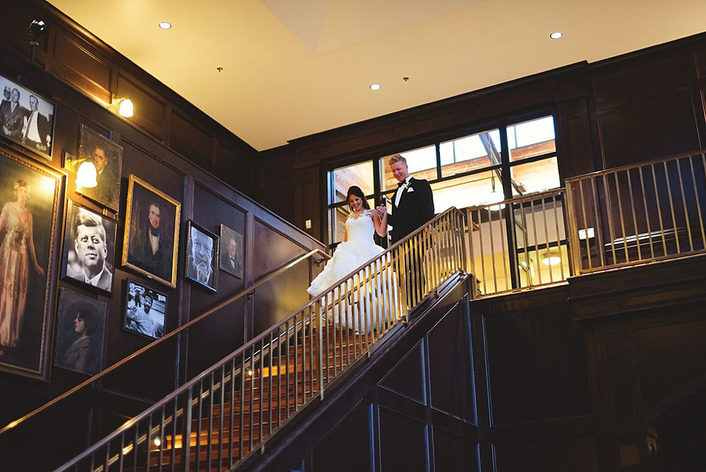 oxford exchange wedding : bride and groom introductions