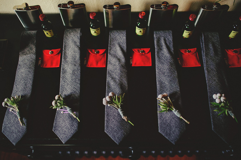 casa feliz wedding photos: groomsmen ties