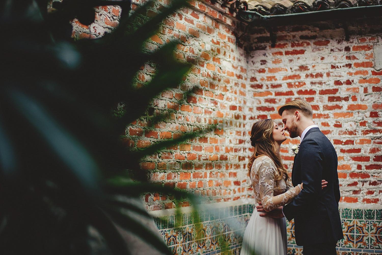 casa feliz wedding photos: bride and groom almost kissing