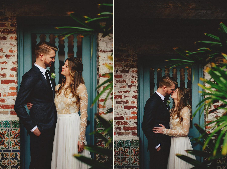 casa feliz wedding photos: happy bride and groom