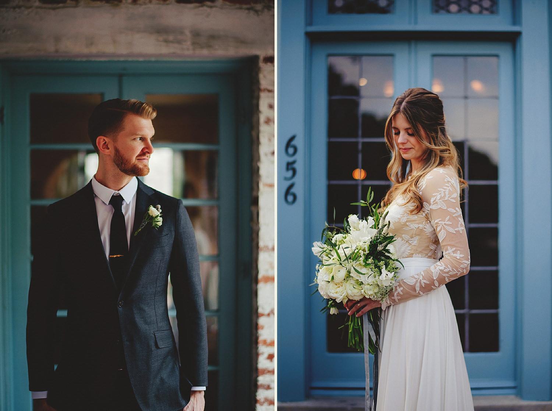 casa feliz wedding photos: portraits of bride and groom