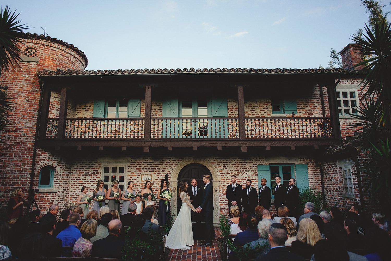 casa feliz wedding photos: ceremony setup