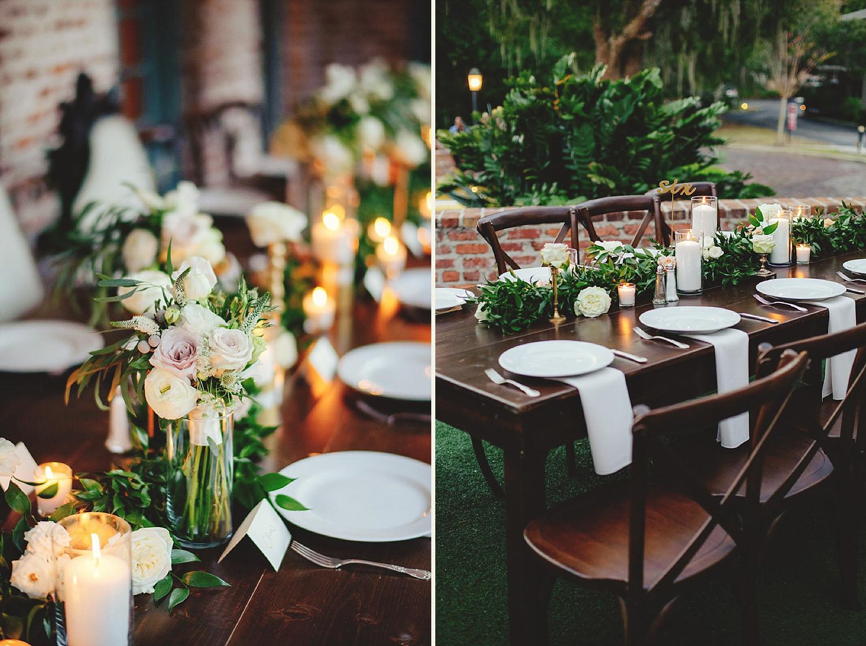 casa feliz wedding photos: table set up