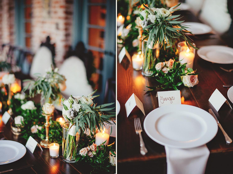 casa feliz wedding photos: plates and florals